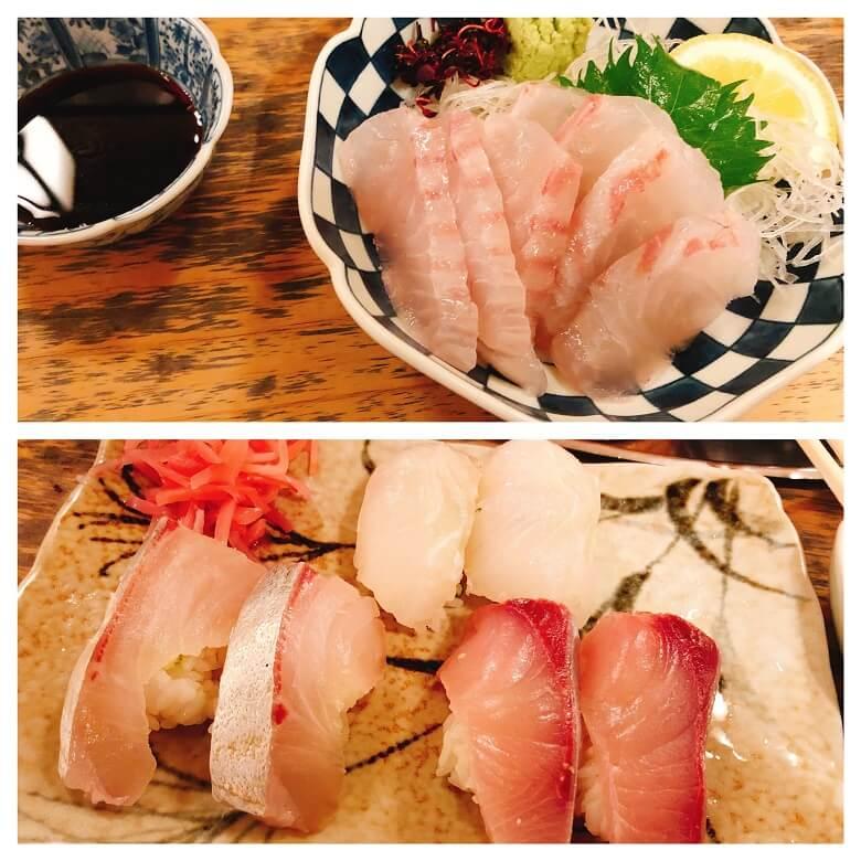 亀すし造りと寿司
