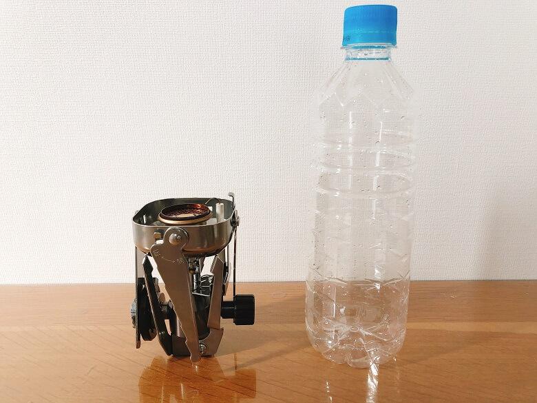 ジュニアコンパクトバーナーを500mlペットボトルと比較