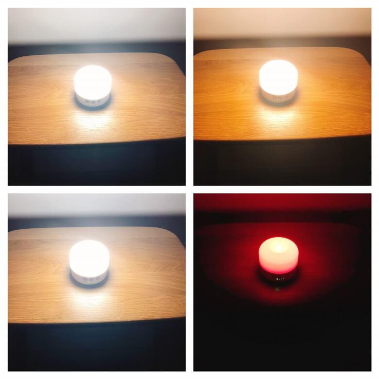 Beszing LEDランタンの明かりの種類は4種類