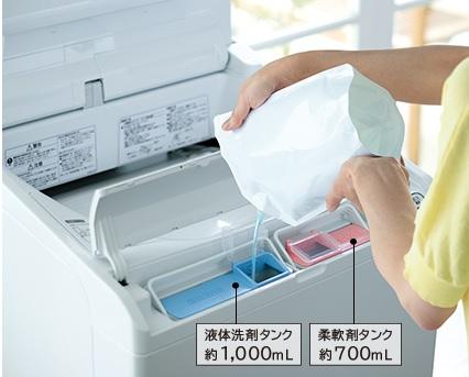 自動洗剤投入機能