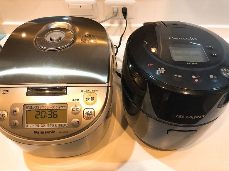ホットクックと炊飯器
