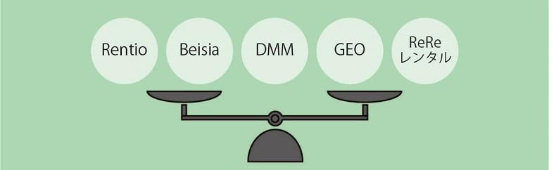 レンタル業者5社比較