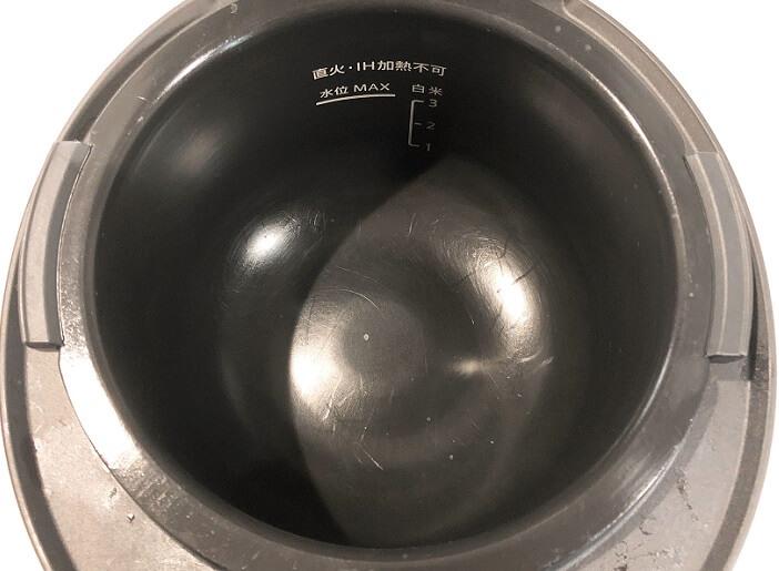 フッ素コート加工内鍋