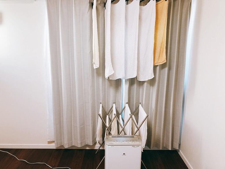 タオルの衣類乾燥
