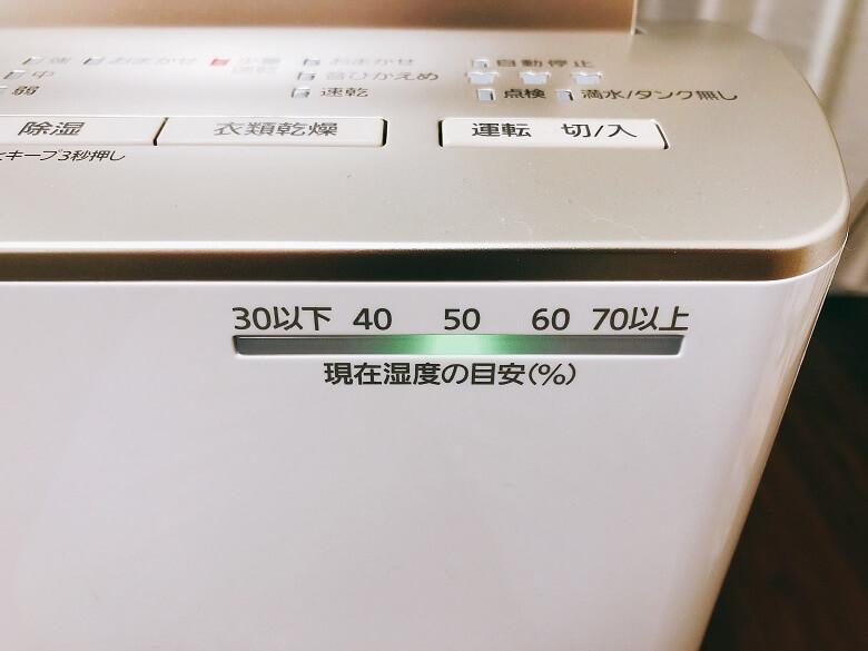 F-YHTX120の湿度メーター