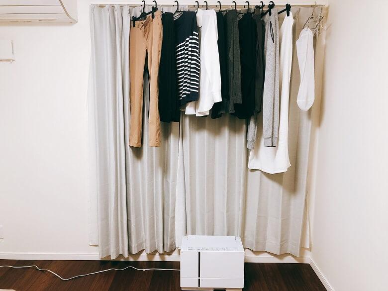 F-YHTX90の衣類乾燥実験