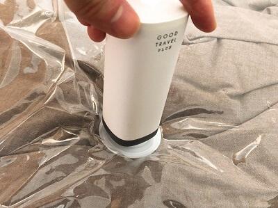 市販の圧縮袋に使用