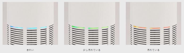LEAF 320 空気の汚れ具合でライトの色が変わる