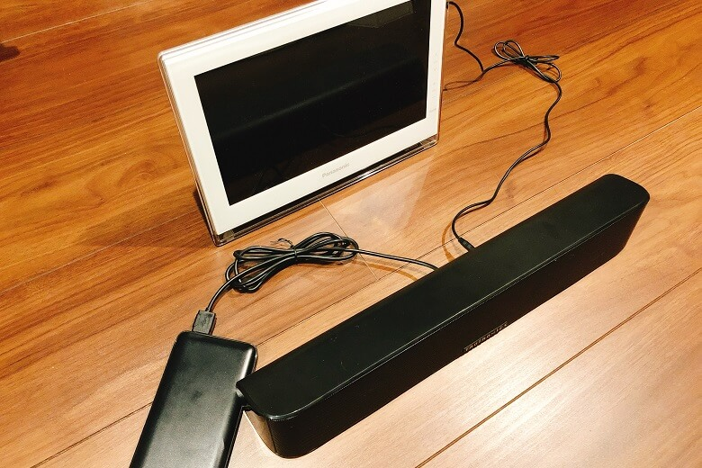 ポータブルテレビのスピーカーとして