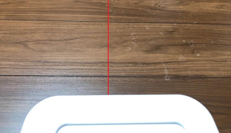 ブラーバジェット250の水拭き性能