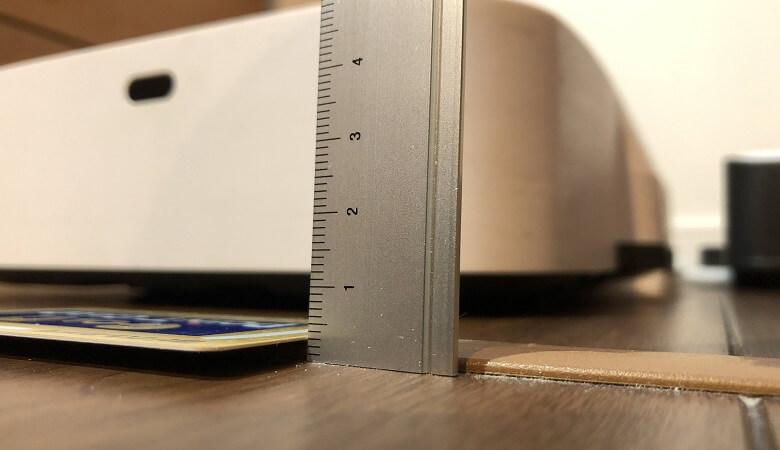 床下収納の段差3mm