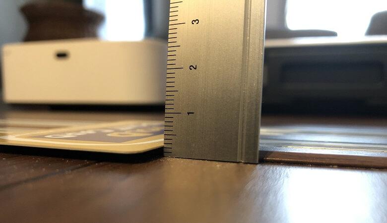 引き戸の敷居2mm