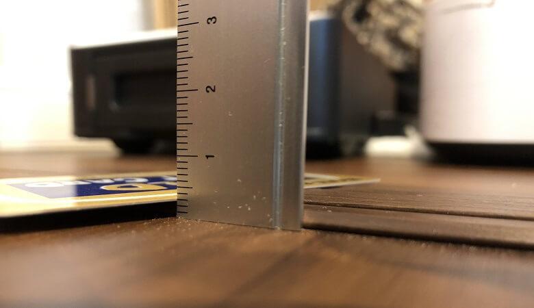 開き戸の敷居3mm