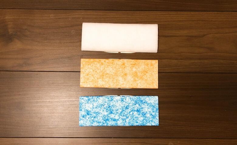 3種類のお掃除パッド