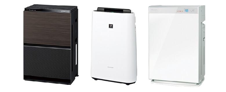 加湿器と空気清浄機の一体型