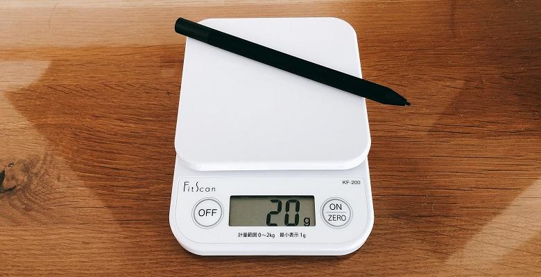 タッチペンの重量