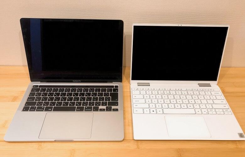 XPS13 2in1とMacBookProの比較内側