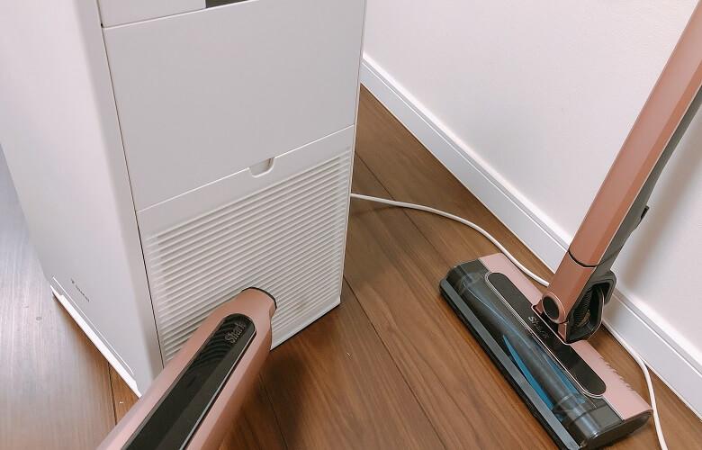 ハンディで空気清浄機を清掃